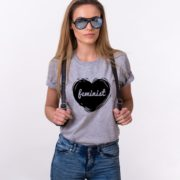 Feminist Shirt, Feminism Heart Shirt, Woman's Rights Shirt, UNISEX