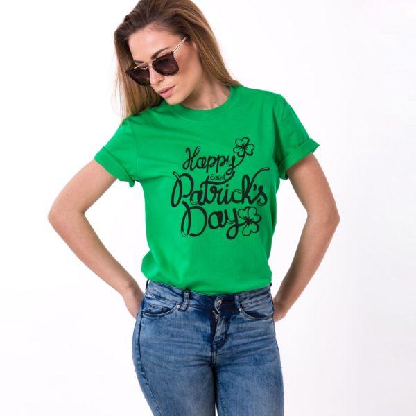 Happy St. Patrick's Day, Green/Black