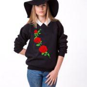 Flower Sweatshirt, Roses Sweatshirt, Rose, Unisex