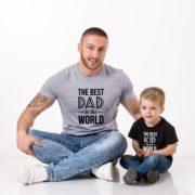 Best Dad in the World, Best Kid in the World, Gray/Black, Black/White