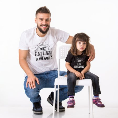 Best Father in the World Shirt, Best Kid in the World Shirt