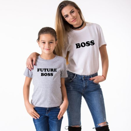 Boss Future Boss Mother Daughter Shirts, Matching Family Shirts