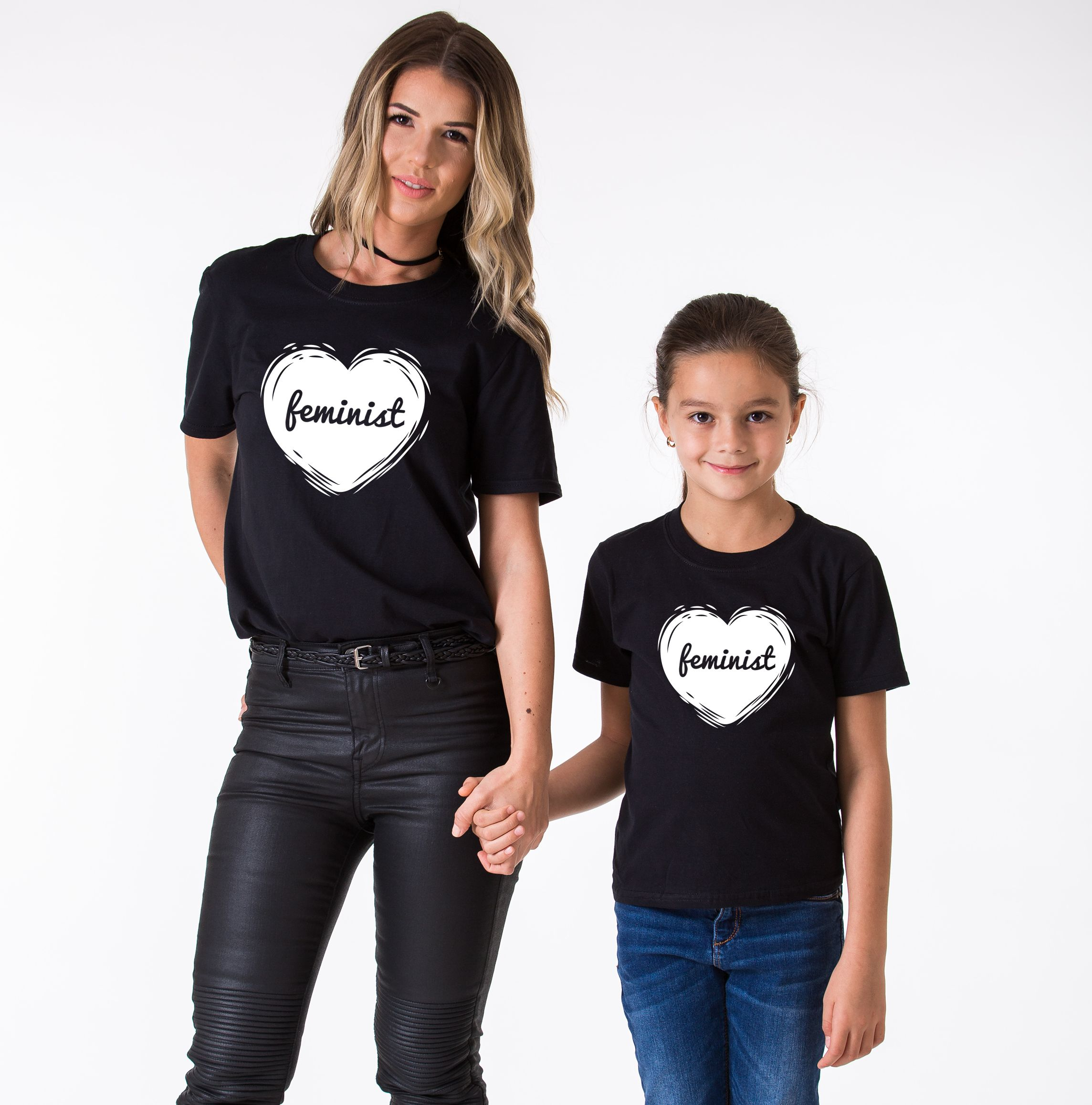 Mommy and Me Feminist Shirts Matching Mother Daughter