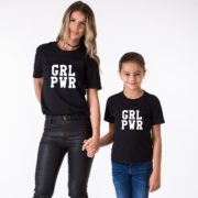 GRL PWR Mommy and Me Shirts, Matching Family Shirts