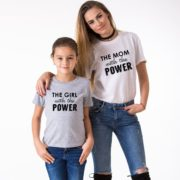 The Mom with the Power, The Girl with the Power, Gray/Black, White/Black