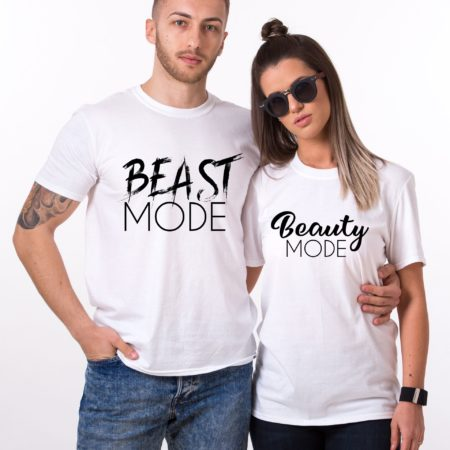 Beast Mode Beauty Mode Shirts, Matching Couples Shirts