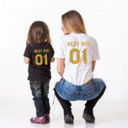 Best Mom, Best Kid, Black/Gold, White/Gold
