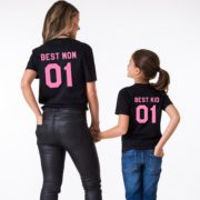 Best Mom, Best Kid, Black/Pink