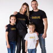 Dadlife, Momlife, Kidlife, Babylife, Black/Gold, White/Gold