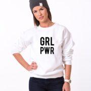 GRL PWR, White/Black