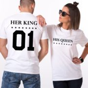 Her King, His Queen, White/Black