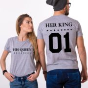 Her King, His Queen, Gray/Black