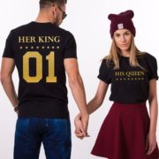 Her King, His Queen, Black/Gold