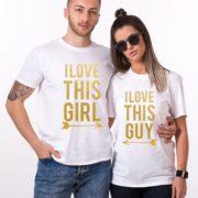 I Love This Guy, I Love This Girl, White/Gold