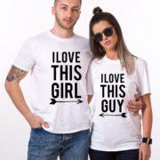 I Love This Guy, I Love This Girl, White/Black