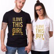 I Love This Guy, I Love This Girl, Black/Gold, White/Gold