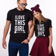 I Love This Guy Shirt, I Love This Girl Shirt, Matching Couples, UNISEX