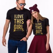 I Love This Guy, I Love This Girl, Black/Gold