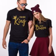 I'm Her King, I'm His Queen, Black/Gold
