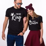 Her King His Queen Shirts, Matching Couples Shirts