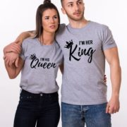 I'm Her King, I'm His Queen, Gray/Black