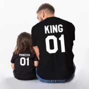 King 01, Princess 01, Black/White