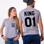 King 01, Queen 01, Gray/Black
