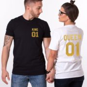King 01, Queen 01, Black/Gold, White/Gold