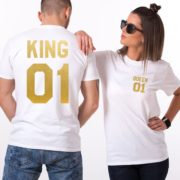 King 01, Queen 01, White/Gold