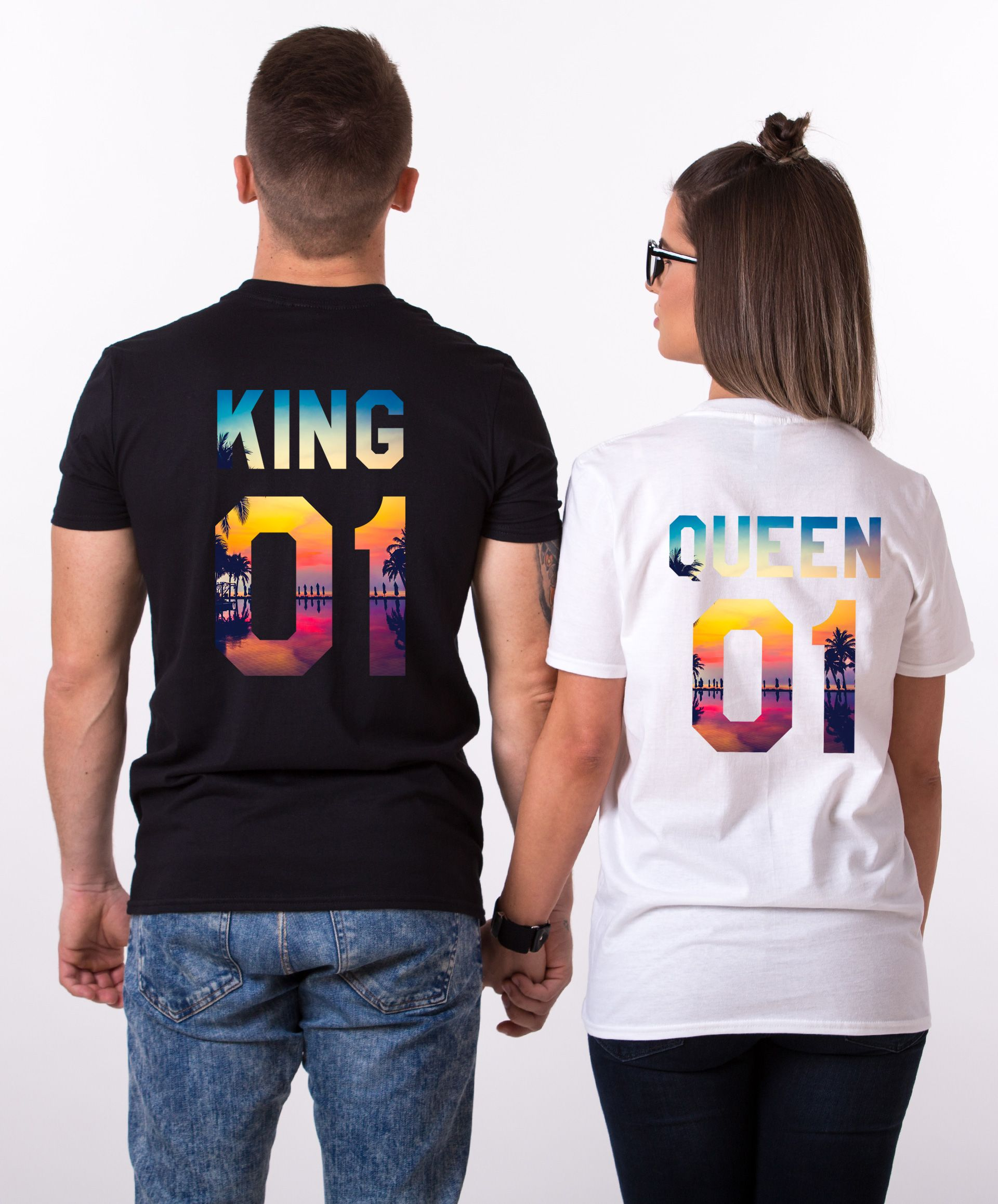 Couple matching shirts, Matching couple shirts, King Queen Tropical, King Queen Couple Matching Shirts, Couple Shirts, UNISEX