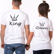 King, Queen, Crowns, White/Black