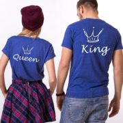 King, Queen, Crowns, Blue/White