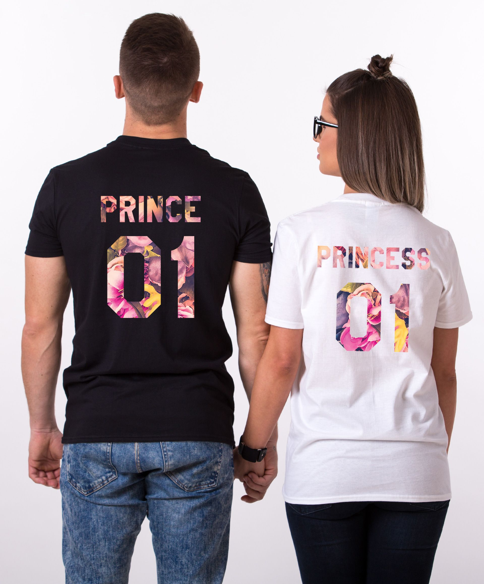 Fleur Collection, Floral King Queen Shirts, Matching Shirts for Couples, Shirts for Couples, Fleur King Shirt, Fleur Queen Shirt, UNISEX