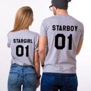 Starboy, Stargirl, Gray/Black