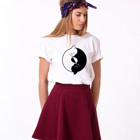 Yin Yang Cats Shirt, Yin Yang Shirt, Cat Shirt, Unisex