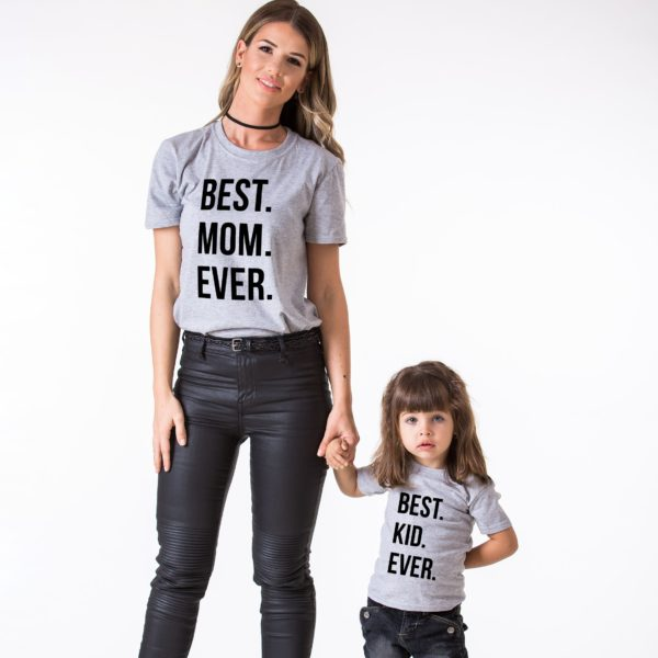 Best Mom Ever, Best Kid Ever, Gray/Black