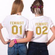 Feminist 01, Feminist 02, White/Gold