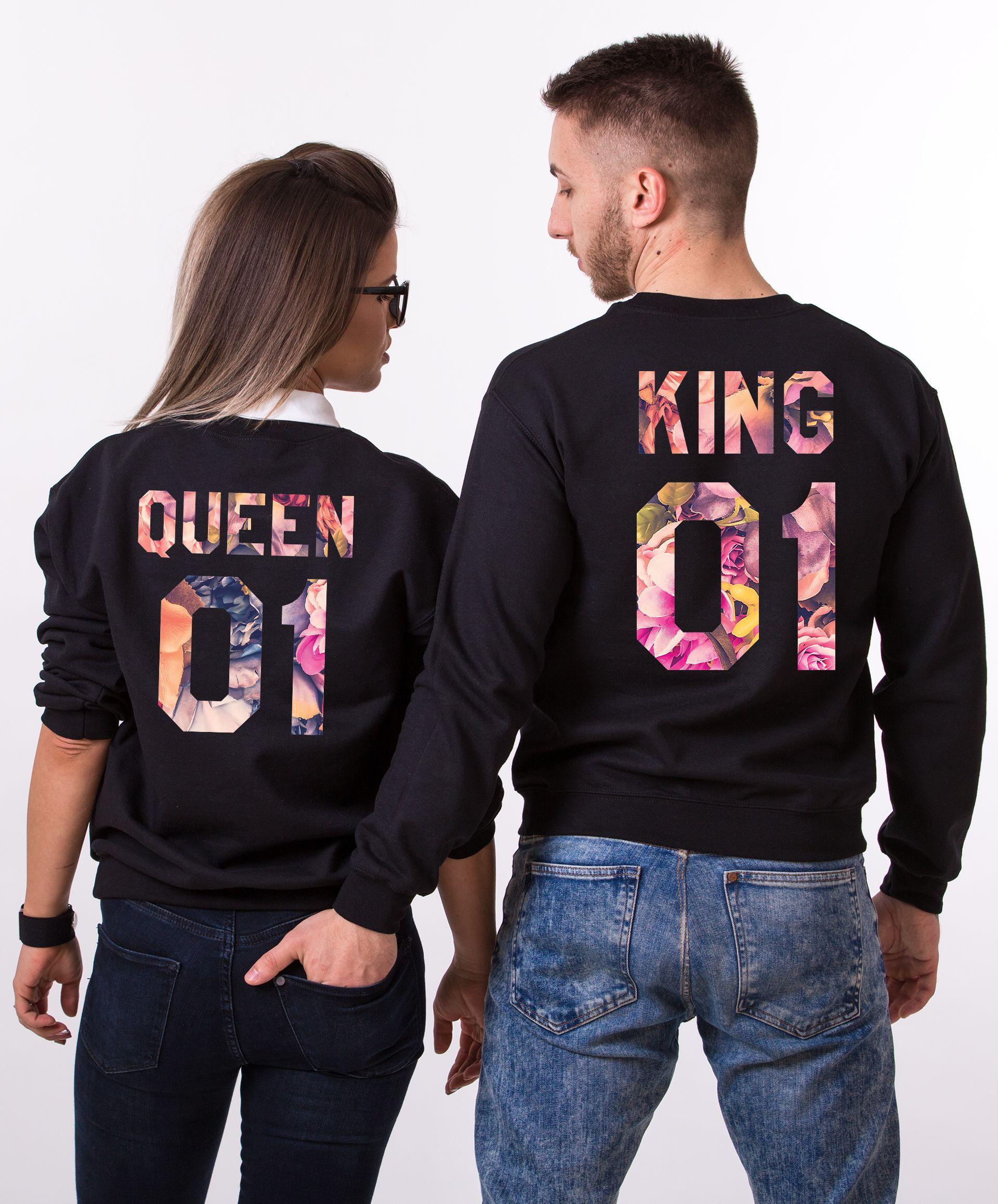 Fleur Collection, King Queen Flower, Floral King Queen Shirts, Shirts for Couples, Fleur King Shirt, Fleur Queen Shirt, UNISEX