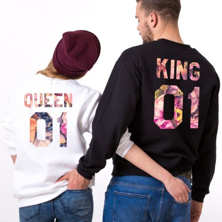 King Sweatshirt, Queen Sweatshirt, Fleur Collection, Couples Sweatshirts