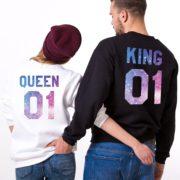 King 01, Queen 01, Galaxy, Black, White