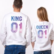 King 01, Queen 01, Galaxy, White
