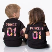 Prince Princess Flower Shirts, Fleur Collection, Matching Kids Shirts