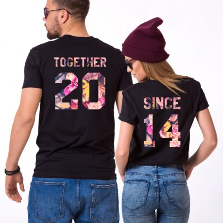 Together Since Floral Shirts, Fleur Collection, Matching Couples Shirts