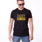 Daddy Est Shirt, Black/Gold