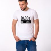 Daddy Est Shirt, White/Black