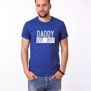 Daddy Est Shirt, Blue/White