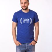 Daddy Est Wreath Shirt, Blue/White