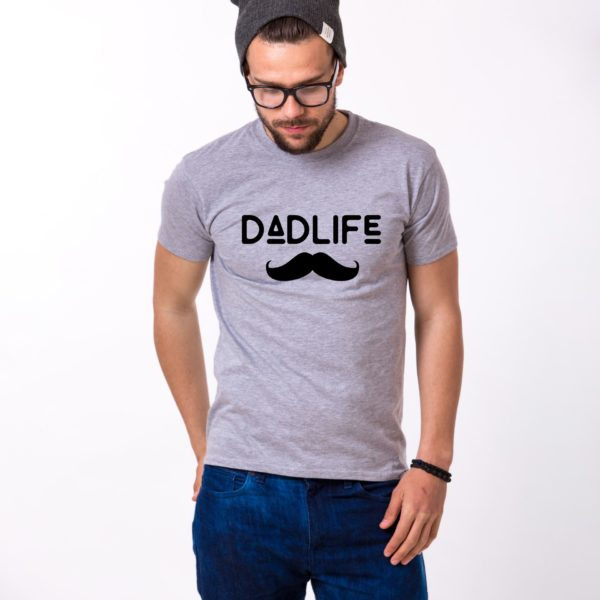 Dadlife Shirt, Gray/Black