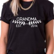 Grandma Est. Shirt, Grandma Shirt, Family Shirt, Single Shirt