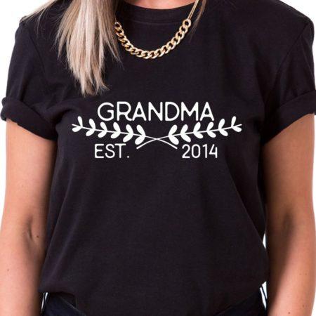 Grandma Est. Shirt, Grandma Shirt, Family Shirt, Single Shirt